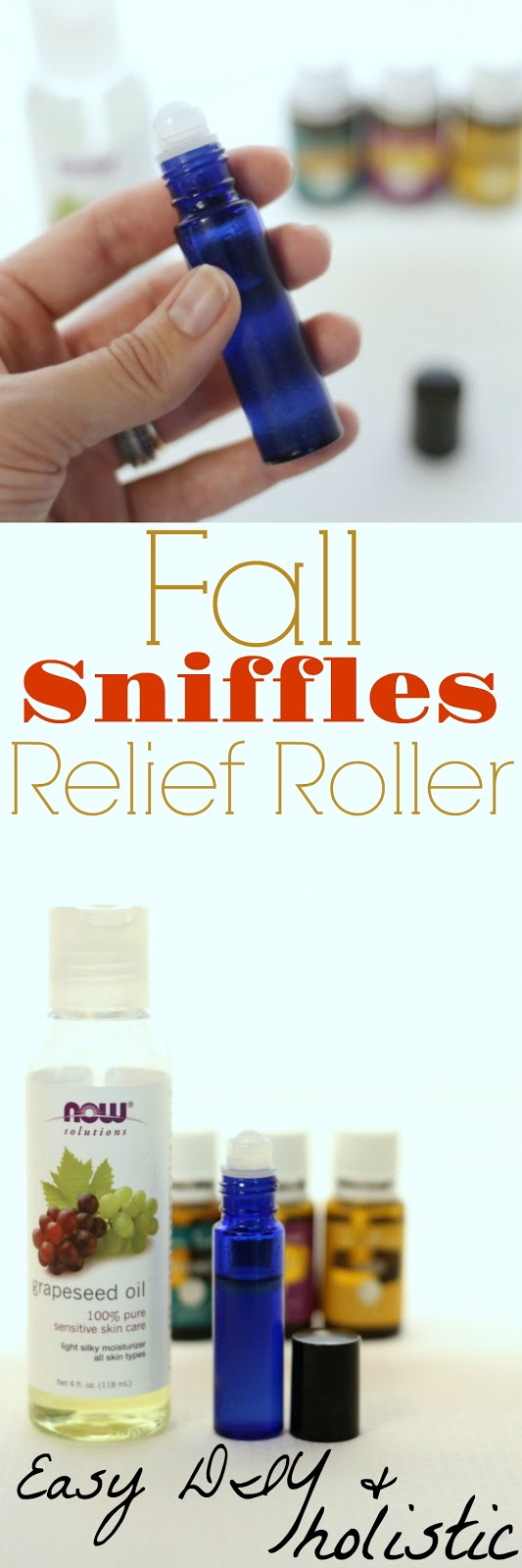 Make this easy roller with essential oils to combat seasonal allergies