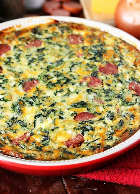 Crustless Quiche with Smoked Sausage Image