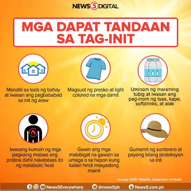 mga dapat tandaan sa tag-init