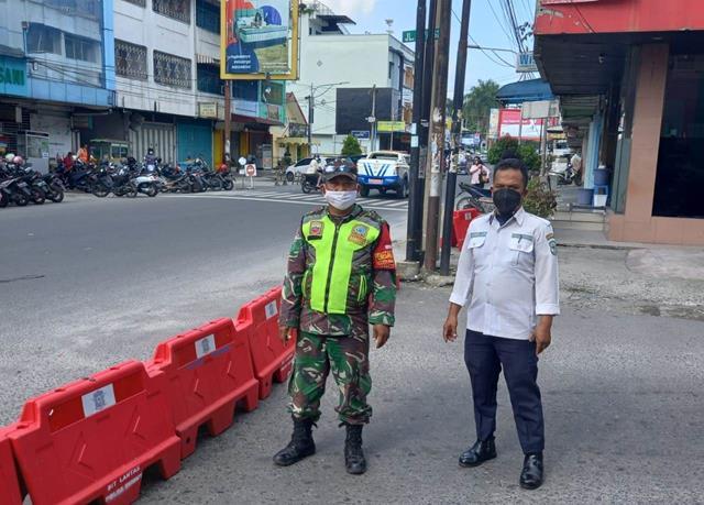 Ops Gakplin PPKM Level lll Diwilayah Kota P.Siantar Dilaksanakan Personel Jajaran Kodim 0207/Simalungun Bersama Dinas Terkait