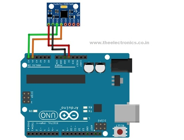 MPU6050 interfacing with arduino