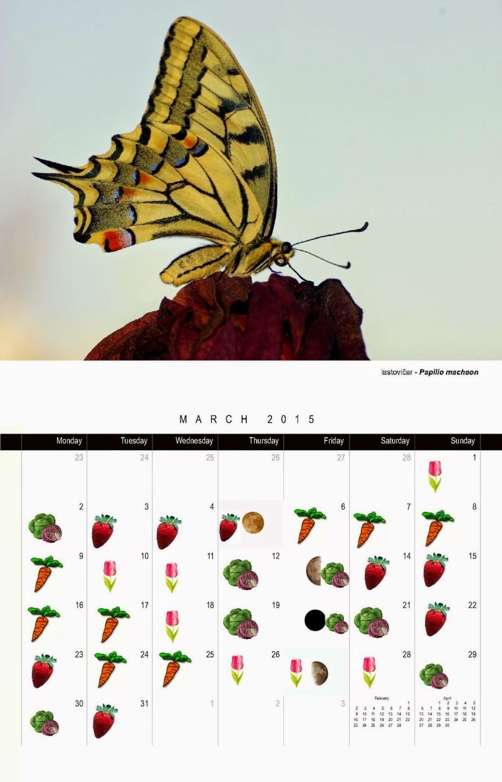 Setveni koledar 2015