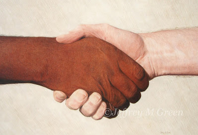 """Respect for Others"", a colored pencil work by artist Jeffrey M Green."