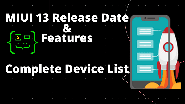 MIUI 13 Complete Device List