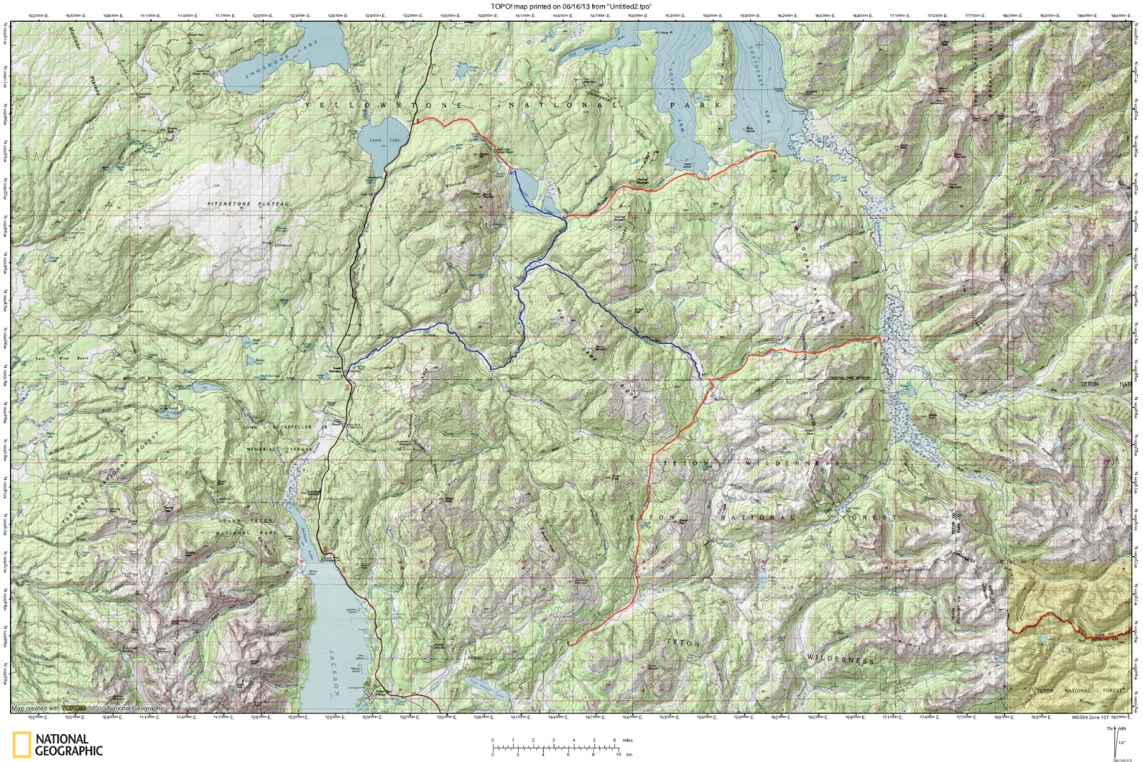 Topographic Map Of Yellowstone.Packrafting Guide To Yellowstone National Park Forrest Mccarthy
