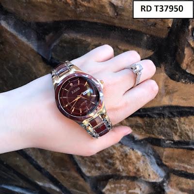 Đồng hồ đeo tay dây đá ceramic xanh độc lạ, đồng hồ nam dây đá ceramic nâu đỏ đẹp độc lạ