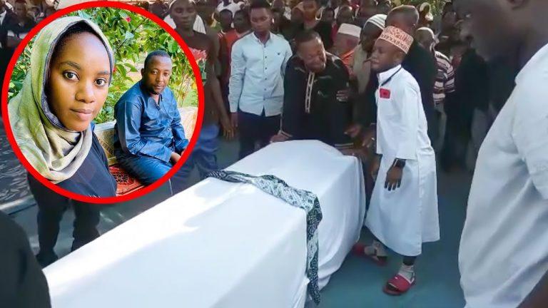 VIDEO : Babu Tale Aangua Kilio Juu ya Jeneza la Mkewe