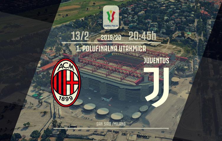 Coppa Italia 2019/20 / 1/2 finala / Milan - Juve, četvrtak, 20:45h