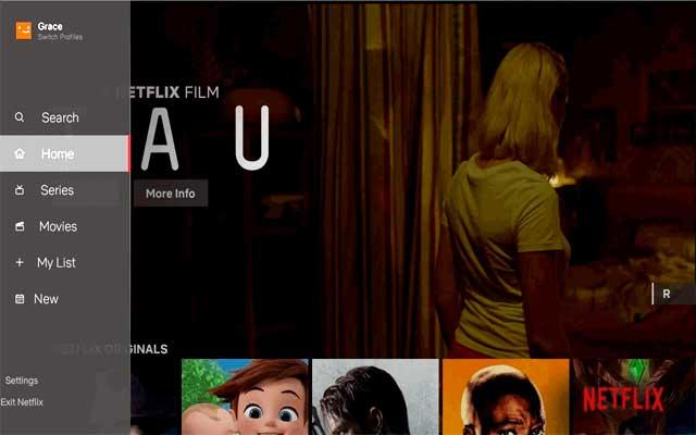 Netflix interfaz para TV