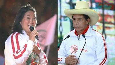 Flash electoral: Keiko Fujimori 50.3% y Pedro Castillo 49.7% en empate técnico
