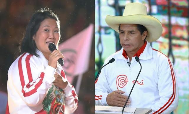 Flash electoral de Elecciones 2021 Keiko y Castillo