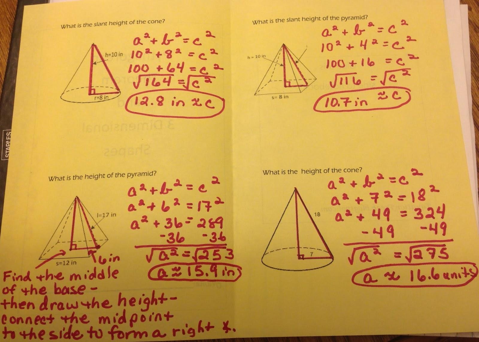 Equation Freak 8 G B 7 Pythagorean Theorem And 3 Dimensional Shapes