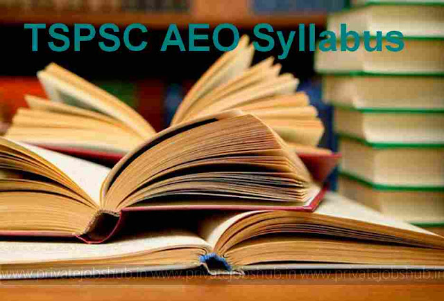 TSPSC AEO Syllabus 2017–2018 Exam Pattern Agriculture Extension Officer
