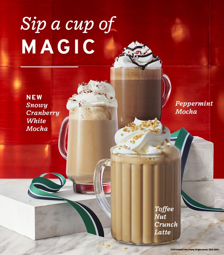 Christmas Starbucks Drinks 2019.Starbucks Christmas Lineup For 2018 Together With The 2019