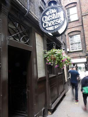 The side door of Ye Olde Cheshire Cheese, Fleet Street