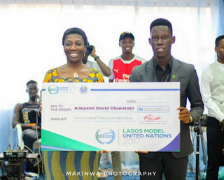 David Tobiloba Adeyemi Of ACU Wins the Lagos Model United Nations 2017 Idea Fair