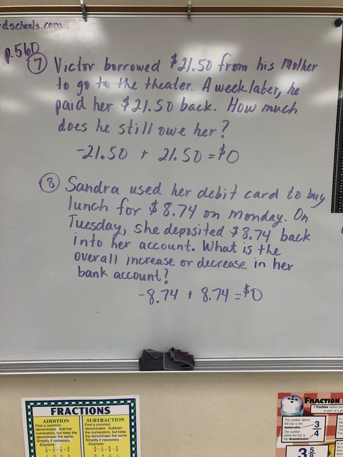 Mrs Negron 6th Grade Math Class Lesson 19 2 Adding