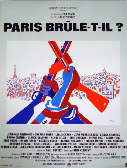 """French film poster for """"Is Paris Burning?"""""""