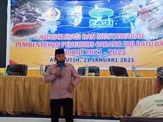 Pengurus Cabang FAJI Batu Bara Dibentuk, Sapta Andika Terpilih Ketua Umum