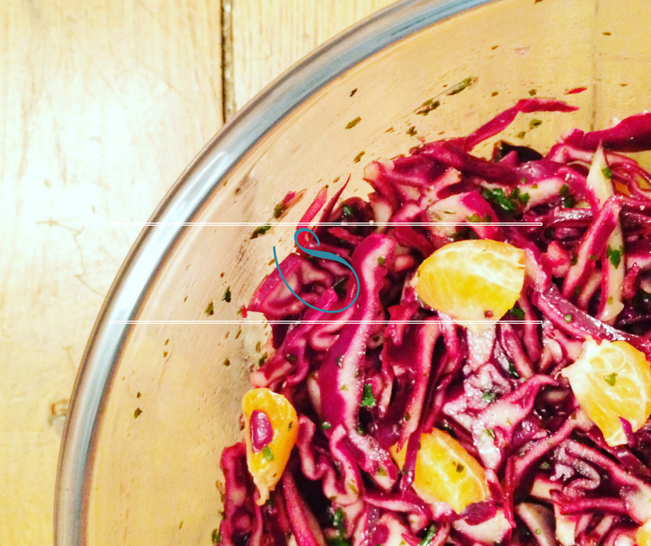 #Healthy red cabbage & orange salad | Salade de chou rouge & orange
