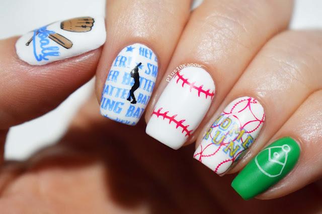 Uberchic mini Take Me Out To The BallGame stamping plate Baseball nails Nail Artisan