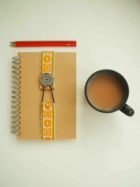 personalise your journal or diary with this simple tutorial for a handmade vintage trim bookmark or journal strap