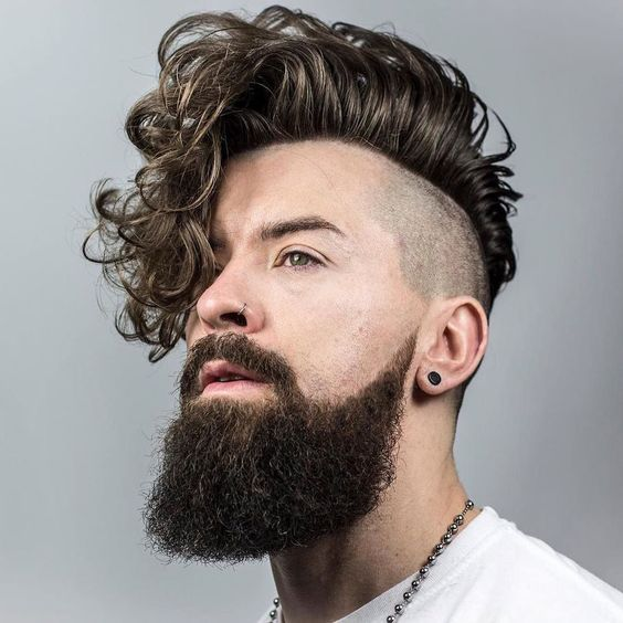 franja-ondulada masculina cabelo