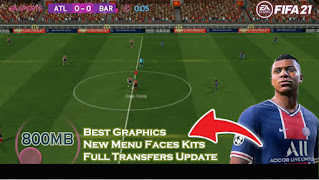 Download FIFA 21 MOD FIFA 14 Android Best Graphics New Menu Faces Kits & Full Transfers Update