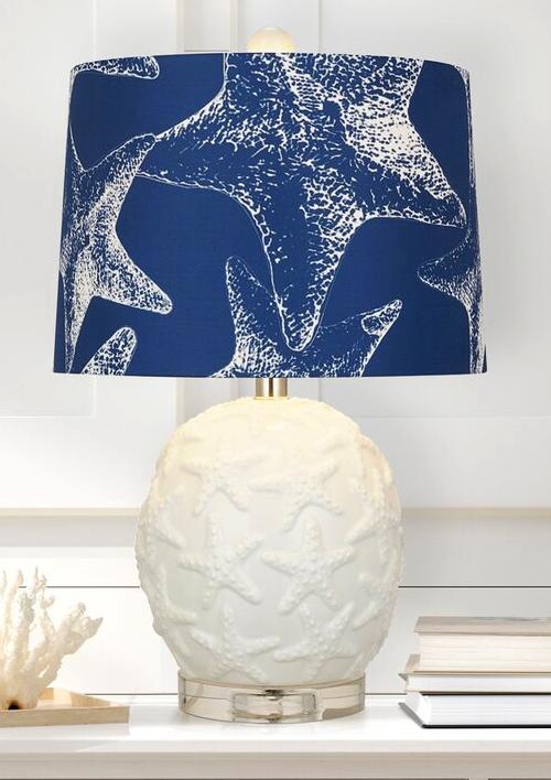 Ceramic Coastal Starfish Table Lamp