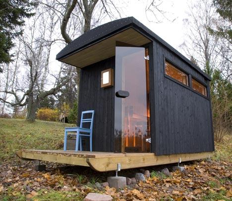 Relaxshacks A Finnish Tiny House Sauna And Houseboat