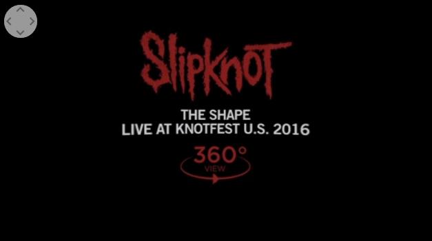 """SLIPKNOT publica """"The Shape"""" en 360° y 3D. Entra y míralo aquí."""