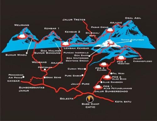 Jalur pendakian gunung arjuno via sumbergondo