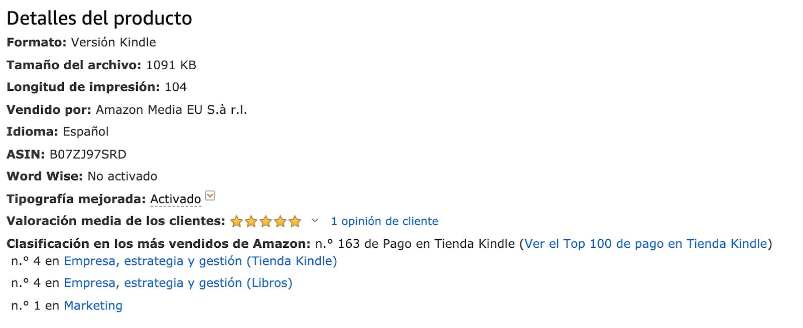 Bestseller en la categoría de márketing Amazon Identidad Verbal Haizea de Pedro Di lo que quieras pero no aburras