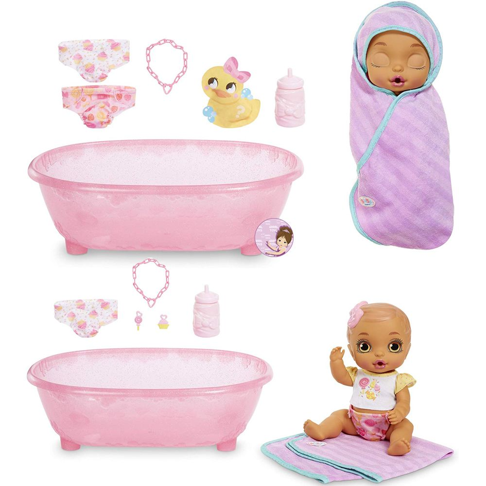 What is inside the box with Baby Born Bathtub Surprise doll