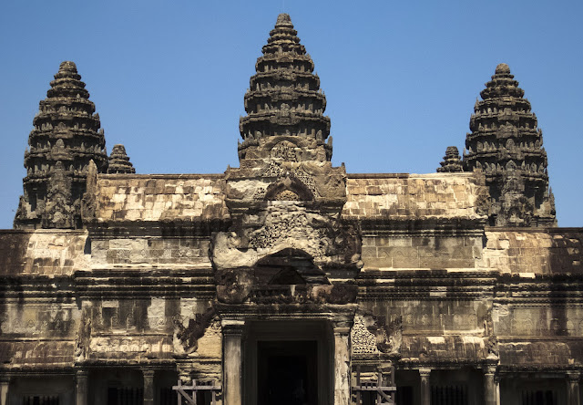 Towers at Angkor Wat in Cambodia