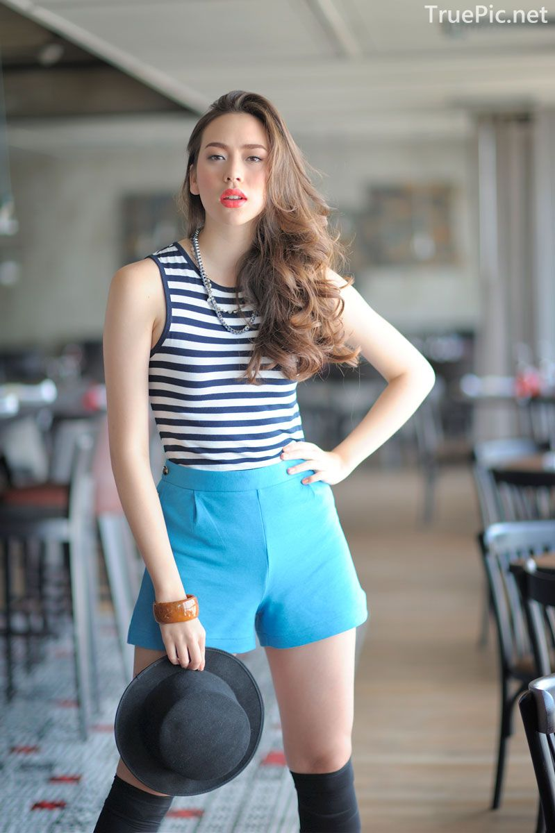 Thailand model - Noot Victoria Coates - Casual Outfits Fashion Walking Street - TruePic.net - Picture 1