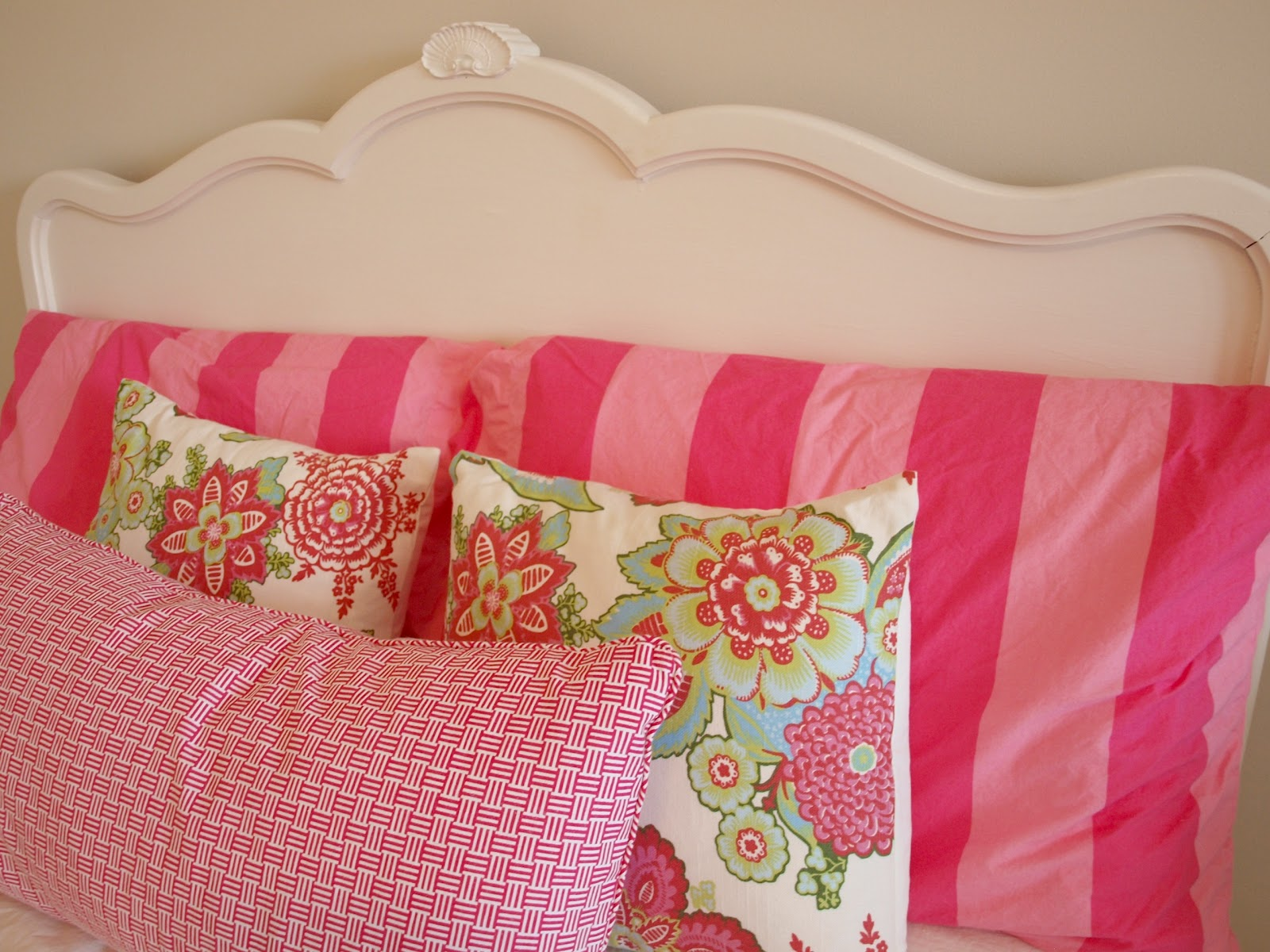 Stripe And Floral Shalini Pillow Covers