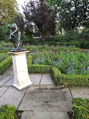 Milo of Corton figure in Holland Park, London