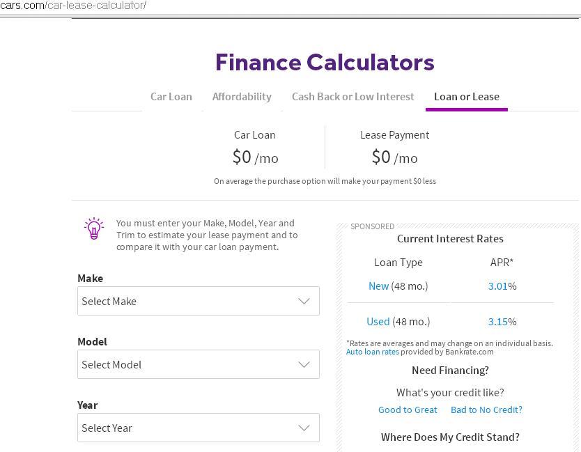 cars com lease calculator - Mavij-plus