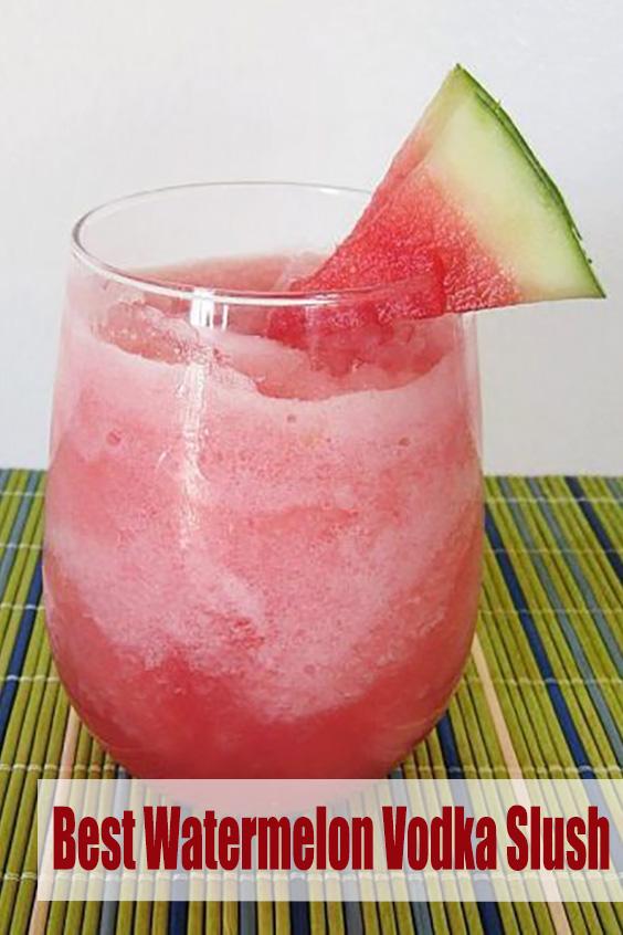 Best Watermelon Vodka Slush