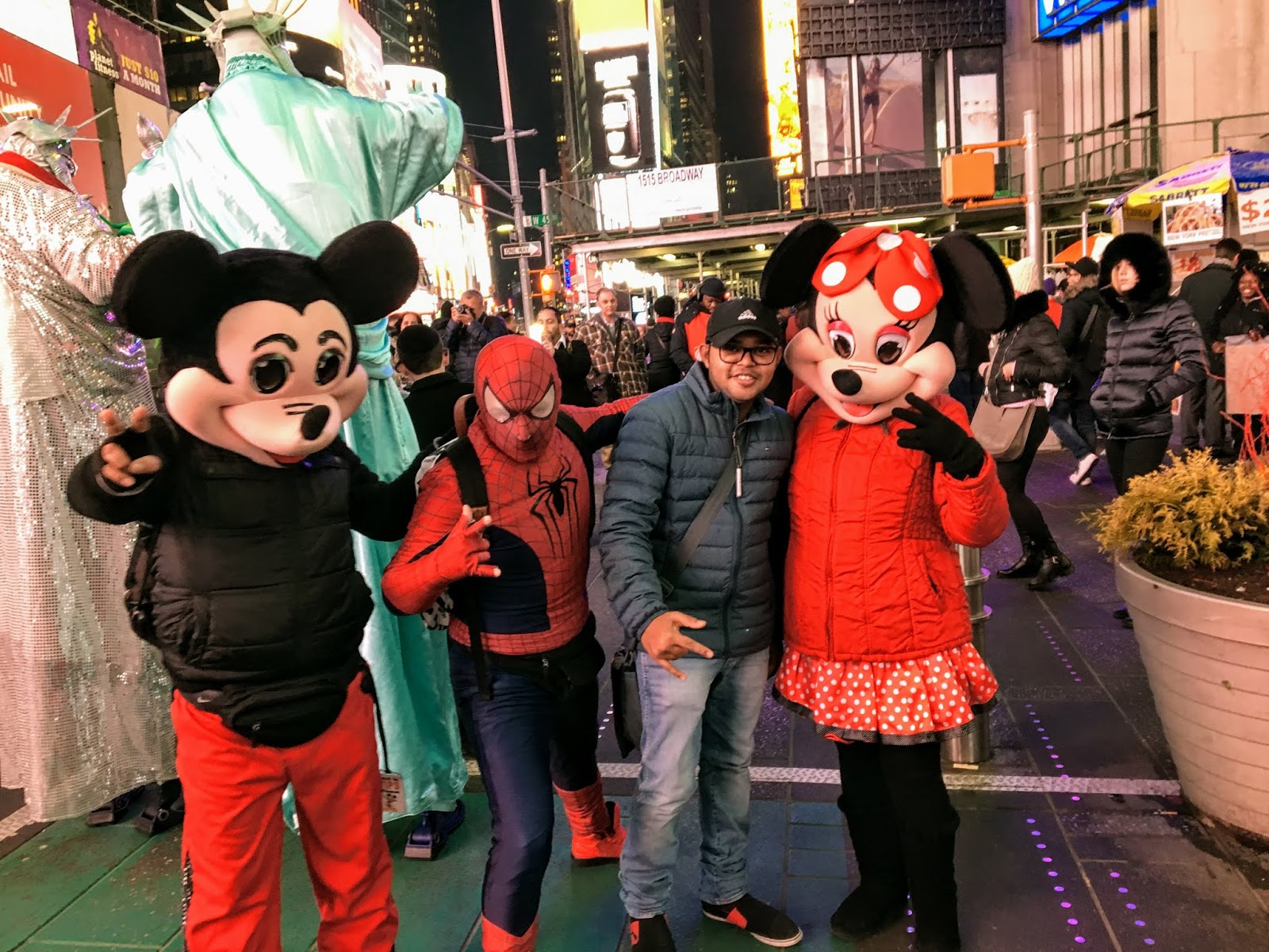 Photo with Mickey and Friends at Times Square