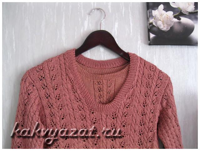 Крмплект-двойка из летнего топика и ажурного пуловера.