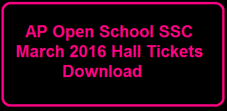 AP Open School SSC March 2016 Hall Tickets Download|APOSS 10th Hall tickets 2016 download at official website http://apopenschool.org/, AP Open Board 10th Hall tickets 2016, APOSS 10th Class Exam Hall tickets . AP Open School 10th Class Hall Ticket Download 2016. APOSS SSC (10th Class) Public Examination 2016 Hall Ticket download from official website www.apopenschool.org /2016/03/ap-open-school-ssc-march-2016-hall-tickets-download.html