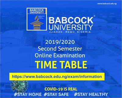 Babcock University Notice on 2nd Semester Online Exam 2019/2020