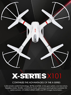 MJX X101 Drone Support Action Cam - OmahDrone