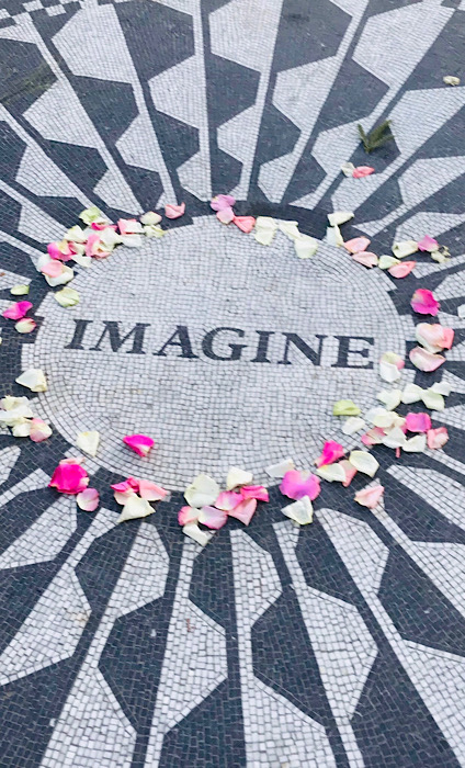 Strawberry Fields, The IMAGINE mosaic, Central Park Pedicab Tours