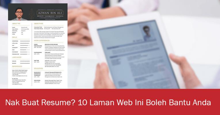 Nak Buat Resume? 10 Laman Web Ini Boleh Bantu Anda