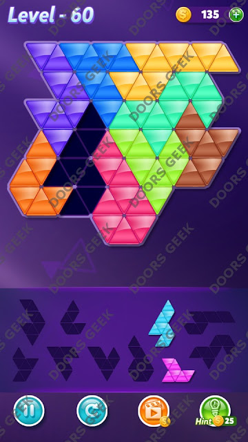 Block! Triangle Puzzle Proficient Level 60 Solution, Cheats, Walkthrough for Android, iPhone, iPad and iPod