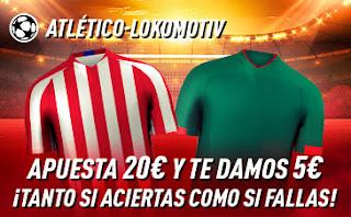 sportium promo champions Atletico vs Lokomotiv 11 diciembre 2019
