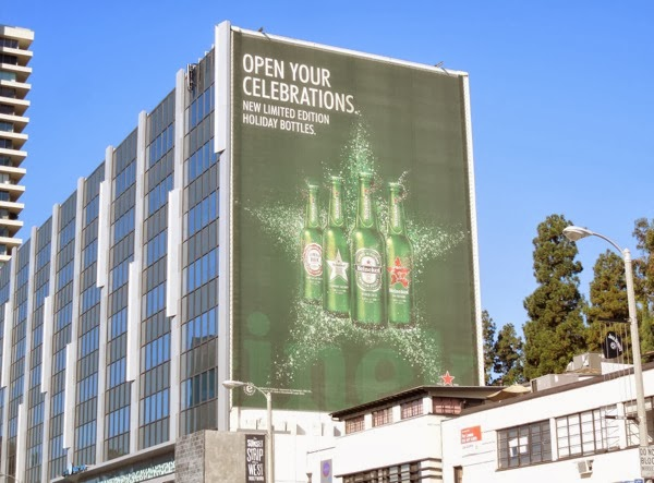 Giant Heineken Open your celebrations billboard